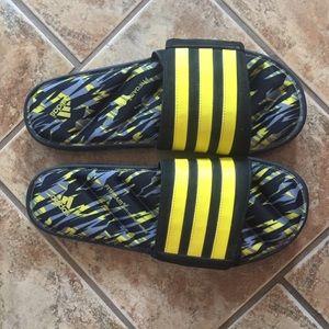 0a49723612f7 adidas Shoes - Adidas Zeitfrei Fitfoam Camo Slide Black Yellow