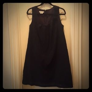 London Times Dresses & Skirts - Black Polka Dots Dress with Flower accents