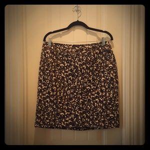 Merona Animal Print Skirt with Back Pockets