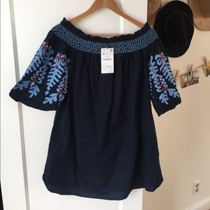 Zara off the shoulder tunic