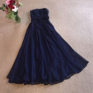 Monique Lhuillier Dresses & Skirts - Formal Navy Blue Gown