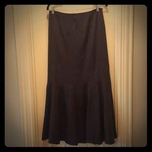 Gray Flare Maxi Skirt