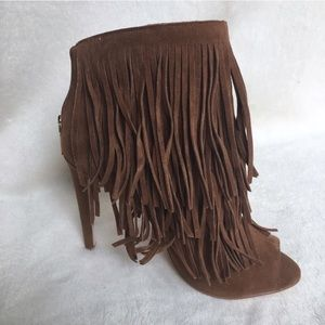 Shoes - HOST PICK! Brand New FRINGE HIGH HEEL BOOTIES