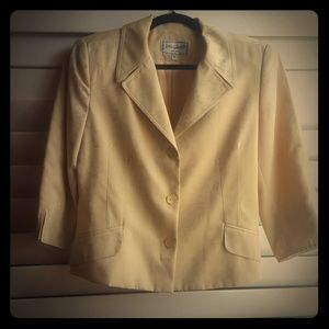 Yellow with gold shimmery accents blazer
