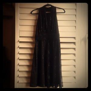 Evan Picone Black Sparkly Dress