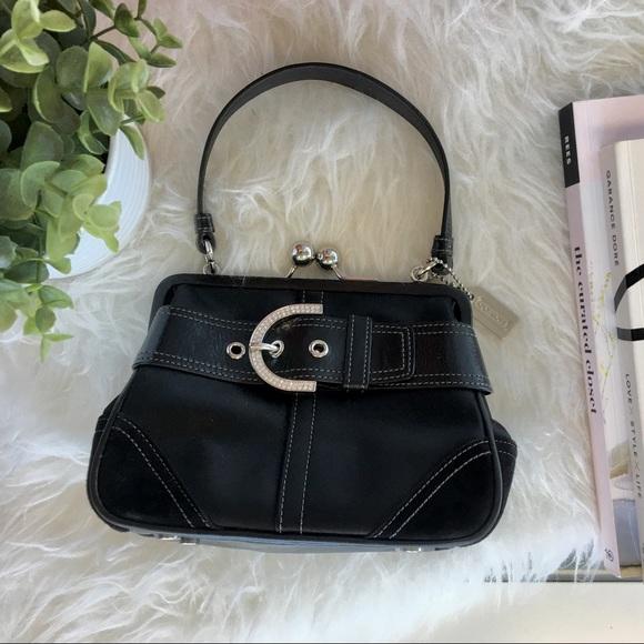 Coach Handbags - Coach Swarovski Mini Bag with Kisslock