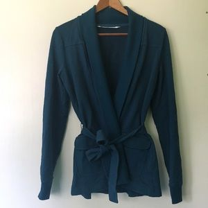 Athleta Sweaters - Athleta // Rolled Hem Robe Style Wrap