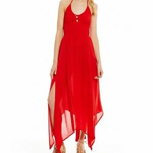 Gianni Bini Dresses & Skirts - NWT GB Halter Neck Handkerchief Hem Midi Dress