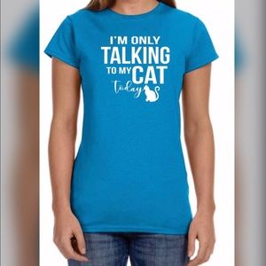 Tops - **I'm Only Talking To My Cat Graphic Tee**