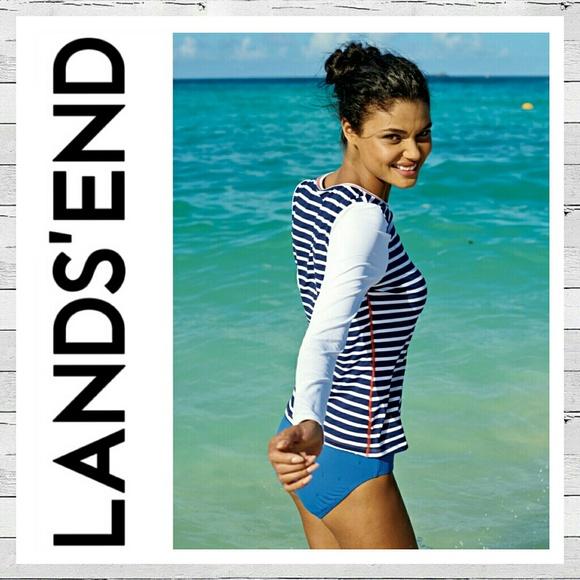 5d00a2b1a1 Land s End Women s Rash Guard Swim Tee Sz 1X