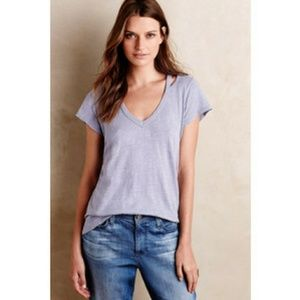 Anthropologie Tops - Left of Center Cut Out Slub Tee