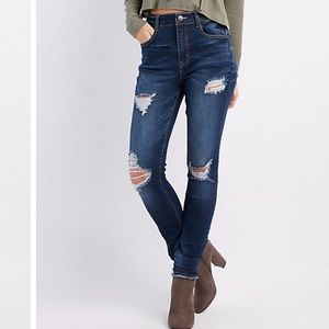 Refuge High Rise Distressed Skinny Jeans