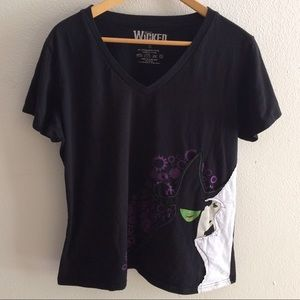 WICKED Tops - Wicked musical short sleeved v neck tee shirt