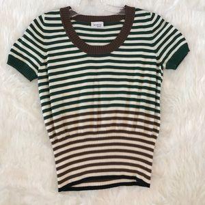 Akris Punto Tops - Akris Punto sweater knit top size 8 - 100% cotton