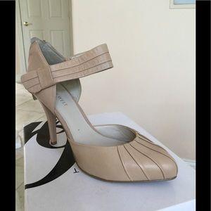 Nine West natural heel sandals.