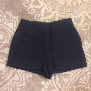 Topshop Pants - Topshop Black Ribbed Shorts