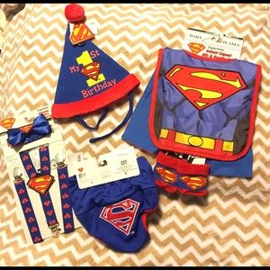 DC Other - 🆕 SUPERMAN BiRTHdAY  outfit. Cape hat socks ect..