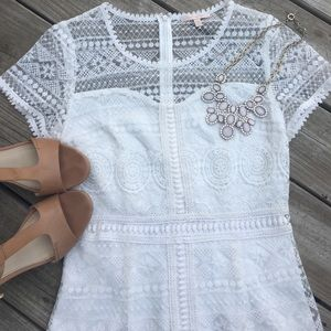 skies are blue Dresses & Skirts - White lace dress- size small!