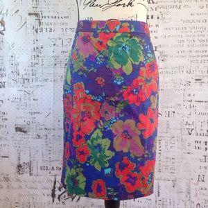 J. Crew Factory Dresses & Skirts - J. Crew The Pencil Skirt watercolor floral sz 10
