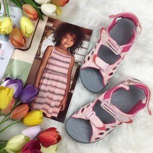 Merrell Pink Chameleon Kids Sandals