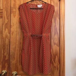 Geri G Dresses & Skirts - Business Professional Brown/Red Dress