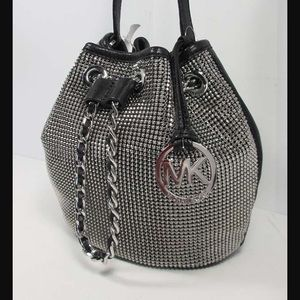 21abc48c Michael Kors Bags - Michael Kors Frankie Metal Mesh Bucket Bag