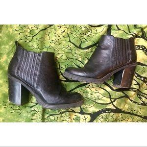 Sam & Libby Shoes - Sam & Libby black leather heeled booties