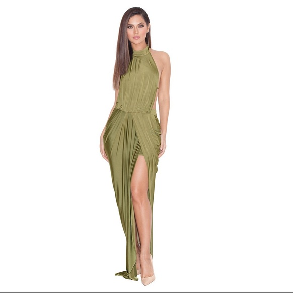 49 off house of cb dresses skirts house of cb vittoria silk draped maxi dress from victoria. Black Bedroom Furniture Sets. Home Design Ideas