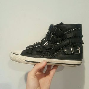 Ash Shoes - ASH 36 BLACK SNEAKERS 6 6.5 LEATHER