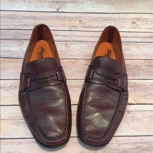 Santoni Other - Santoni Mens Brown Penny Loafers Made Size 12 EUC