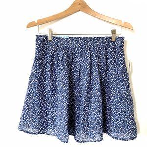 Old Navy Blue Floral Skater Regular Skirt XS C1