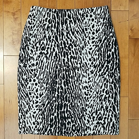 Talbots Dresses & Skirts - Talbots Snow Leopard Pencil Skirt