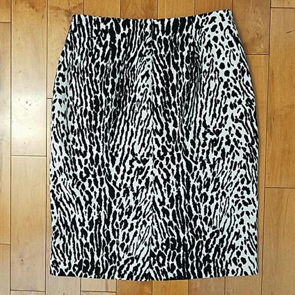 Talbots Skirts - Talbots Snow Leopard Pencil Skirt