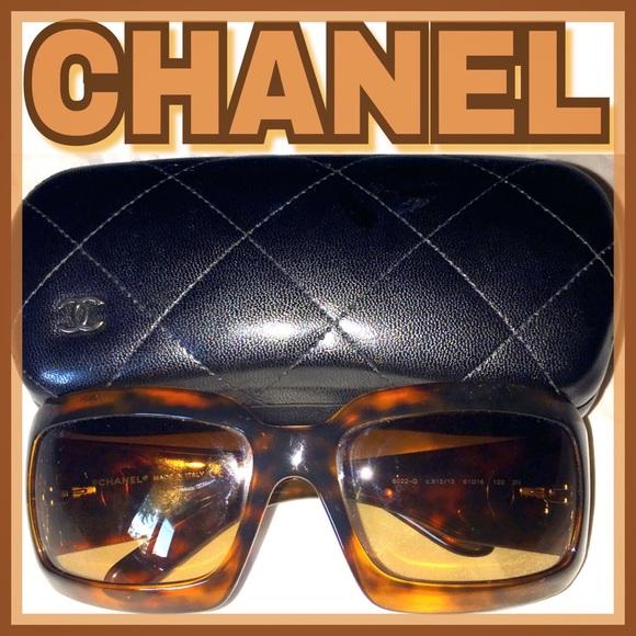 1f29e9f064 CHANEL Accessories - EUC CHANEL Sunglasses 6022 Q Havana brown c912 13