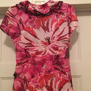 Metrostyle Tops - NWOT Ruffle Collar Wrap Top/Blouse. Sz 6