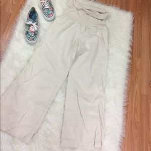 Forever 21 Pants - Maternity Linen Blend khaki pants
