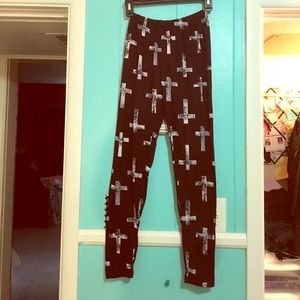 Rue21 Pants - Black and White Cross Leggings