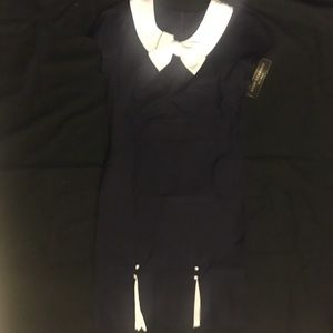 ModCloth Dresses & Skirts - NWT ModCloth Navy Dress with White Collar