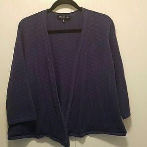 Jones New York Sweaters - 🔴⚪🔵Jones New York Open Pointelle Cardigan