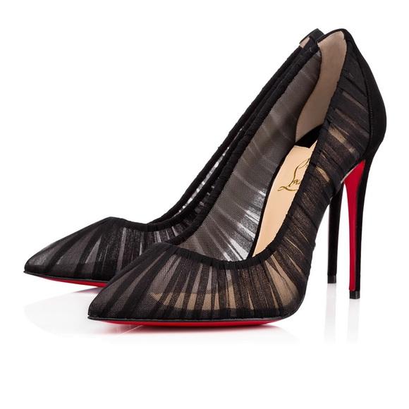 2b4564089d4 Christian Louboutin Shoes - Christian Louboutin Draperia 100 38 Black  Chiffon