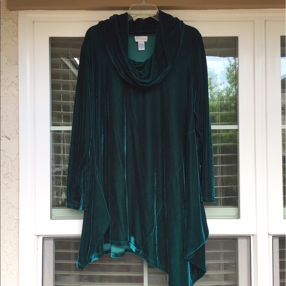 soft surroundings Tops - Velvet tunic