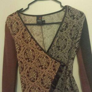 Anac Tops - ANAC brown criss cross sweater