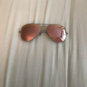 Pink flash aviator raybans