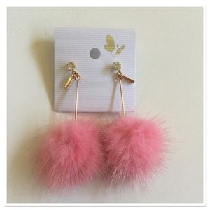 Boutique Jewelry - Pink Pom Pom Earrings