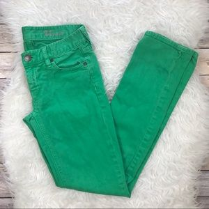 J. Crew Denim - J. Crew Matchstick Kelly Green Jeans