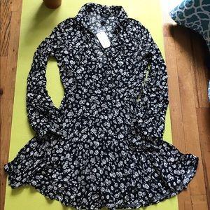 🦋🎉Forever 21 SHORT LE black/cream dress
