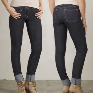 "Prana Denim - PRANA Dark Gray Denim ""Kara"" Skinny Jean"