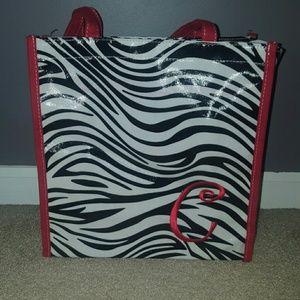 """Handbags - Super Cute Zebra Stripe Monogrammed Letter """"C"""" Bag"""