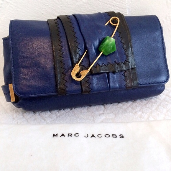 b158fd454f SALE Marc Jacobs Blue Safety Pin Clutch. M_5935caea5a49d0e25a004207