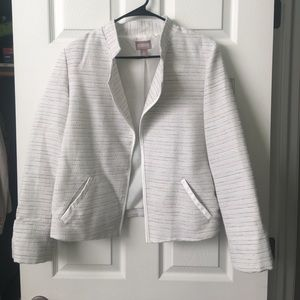 Chicos jacket. Size 2 white with pink & grey lines